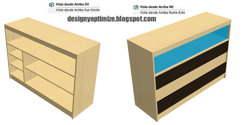 Diseño De Muebles Madera Construcción de Exhibidor Madera y Vidrio