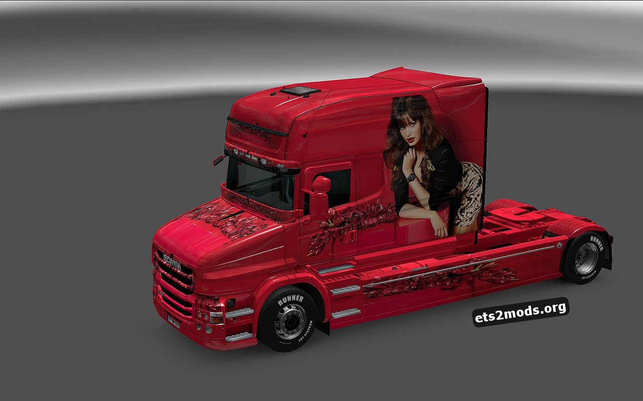Girl in Red Skin for Scania T