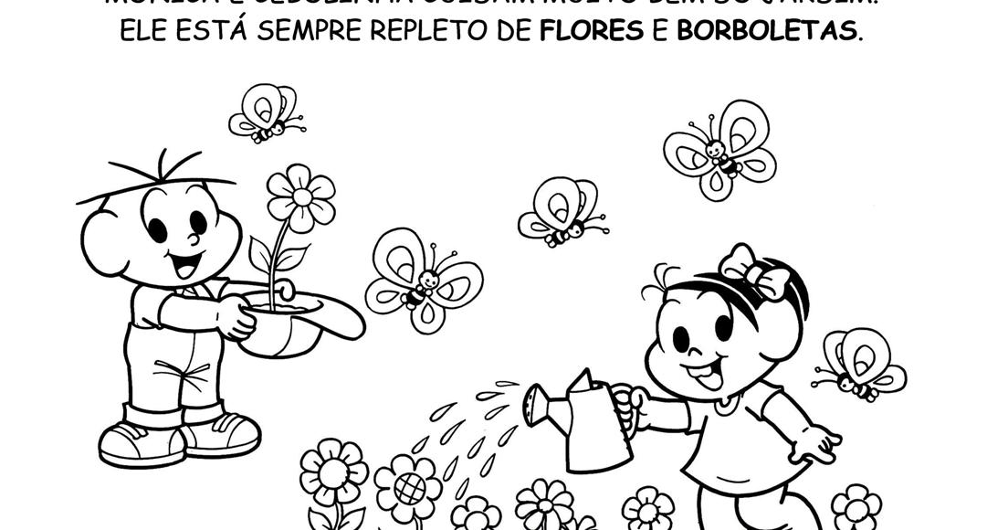 Primavera Turma Da Monica Desenhos E Atividades I Pintando O Sete