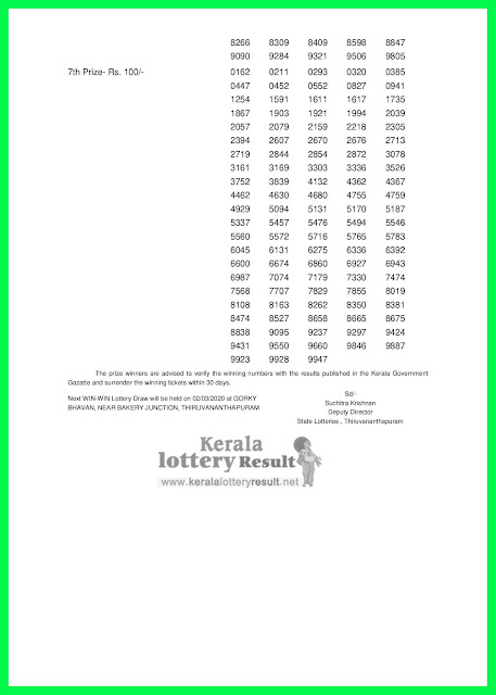 LIVE: Kerala Lottery Result 24-02-2020 Win Win W-553 Lottery Result