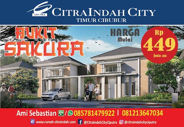Cluster Bukit SAKURA Citra Indah City mulai dipasarkan - Harga Mulai 449 Jtan