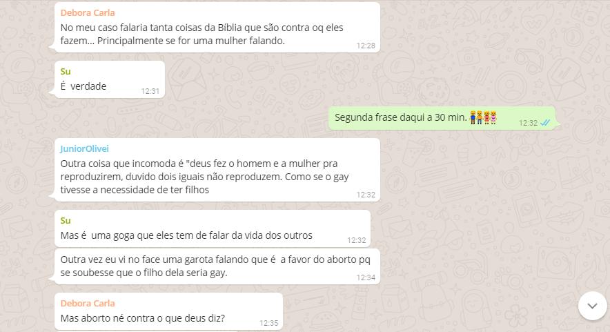Frases típicas de homofóbicos que se dizem amigos dos gays no Debate no WhatsApp Blog Fala Berenice