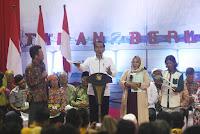 Jokowi Serahkan Seribu Sertfikat Warga Kalimantan Utara - Tarakan Info