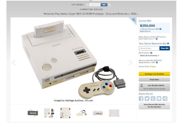 رسميا فتح المزاد العلني على نسخة جهاز Nintendo PlayStation