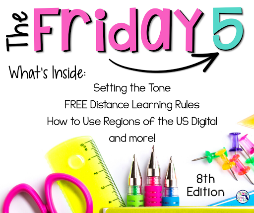 Setting the tone, Distance Learning Freebie, How to Use Regions of the US Digital, and more!