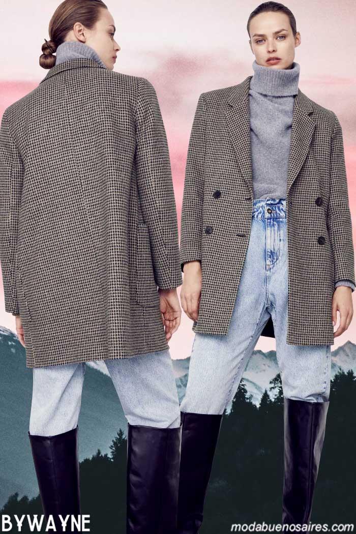 Poleras pantalones de jeans sacos moda mujer zara invierno 2021