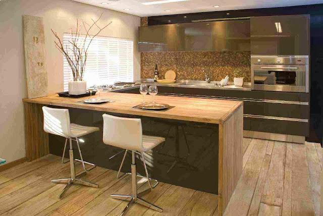 Construindo minha casa clean cozinhas integradas - Bancadas de cocina ...