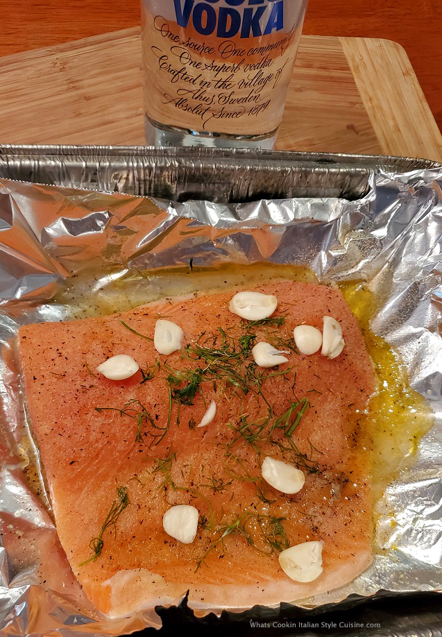 this is salmon smoked in vodka
