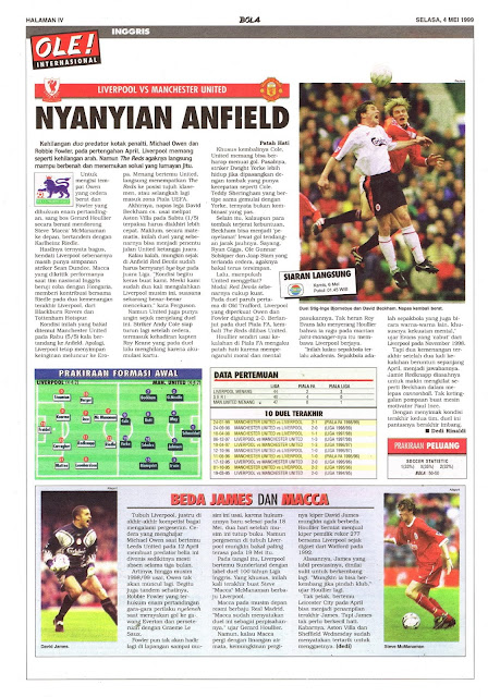 LIVERPOOL VS MANCHESTER UNITED NYANYIAN ANFIELD