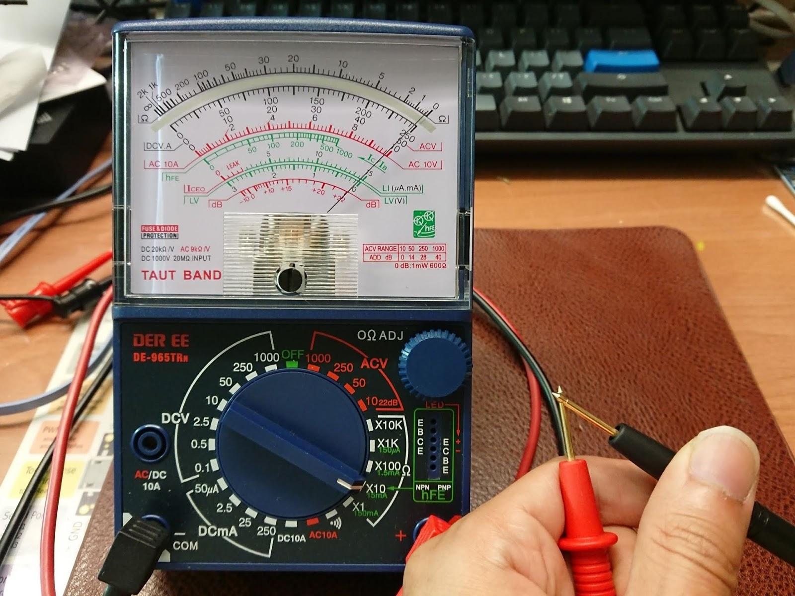 LED順向偏壓量測篇 - 無法被取代的指針型三用電表