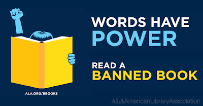 Graphic of someone reading a book. Face is covered by the book and they are holding up a fist.