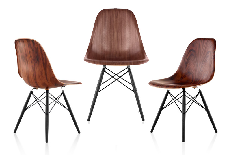 eames chair herman miller folding rocker updates an classic with wood the new molded if it s hip here