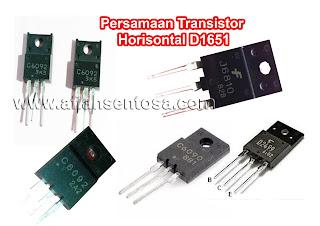 Persamaan Transistor Horisontal D1651