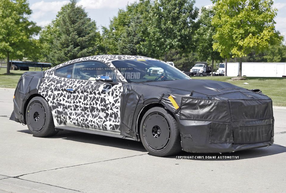 Camouflaged 2017 Ford Mustang Svt Prototype Spotted Testing