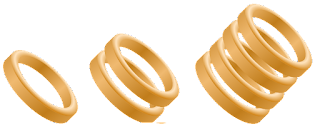 3 Sets of Golden Rings