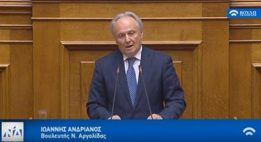 Ομιλία Ανδριανού στη Βουλή ως βασικός εισηγητής στο εκπαιδευτικό νομοσχέδιο (βίντεο)