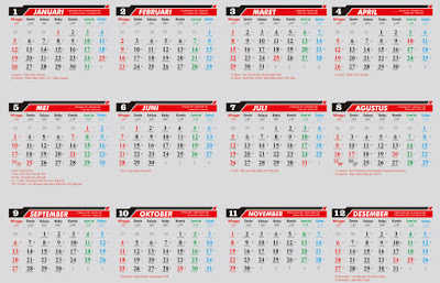 Kalender 2020 Siap Download dan Edit CorelDraw dan Word