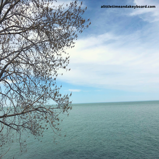 Sweeping views of Lake Michigan from Fort Sheridan Forest Preserve in Northern Illinois.