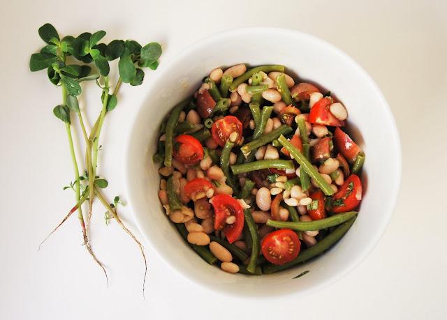 Salade haricots verts haricots blancs