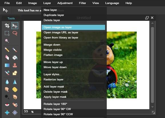 Cara Menggunakan Tool Layer Pixlr Editor