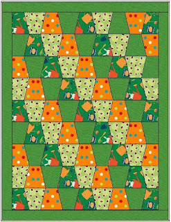 Green Garden Tumbler Precut Baby Quilt Kit