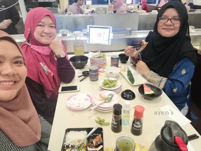 Lunch di Sushi King AEON Taman Universiti