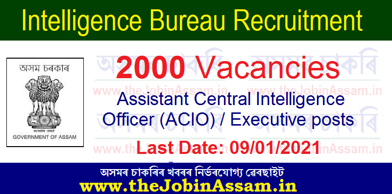 Intelligence Bureau (IB) Recruitment 2021