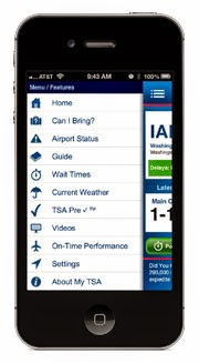 mobile phone with myTSA App