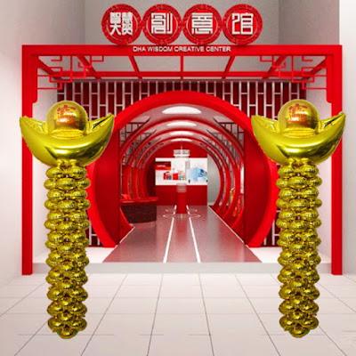 Dekorasi Balon Foil Gold Ingot