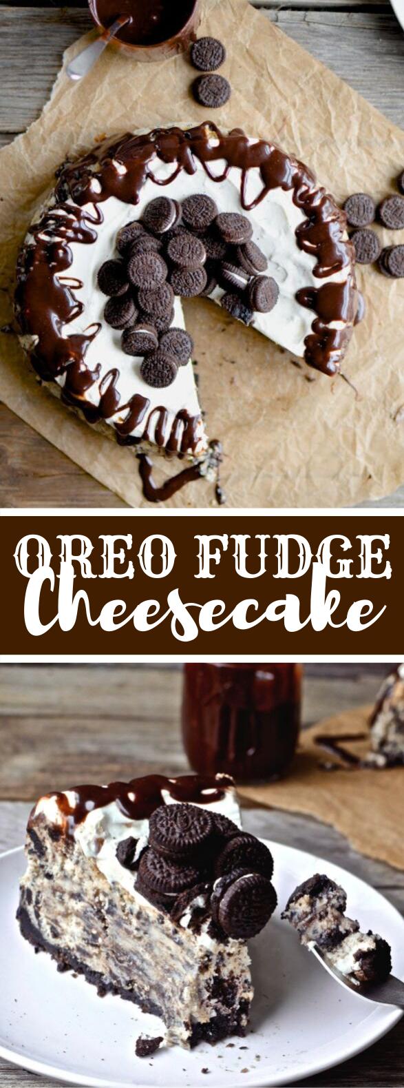 Oreo Fudge Cheesecake #desserts #cake