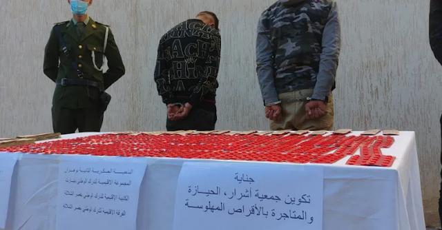 توقيف 3 اشخاص في قضية ترويج حبوب مهلوسة بقصر الشلالة
