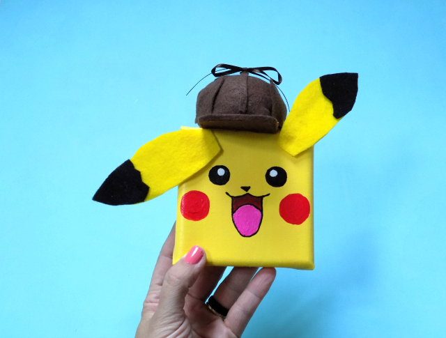 Detective Pikachu Mini Canvas Kids Craft