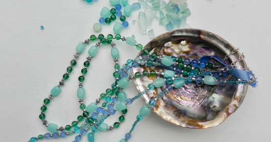 Sea glass inspired necklaces