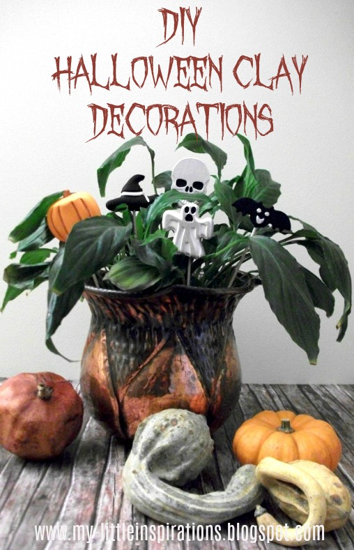 Decorazioni in gesso per Halloween - titolo - My Little Inspirations