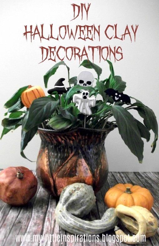 Decorazioni in gesso per Halloween - titolo - My Little Inspirations
