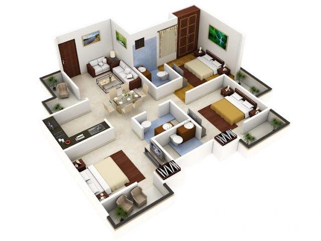 house plans 3 rooms