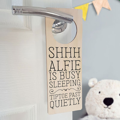 Personalised Baby Sleeping Door Hanger