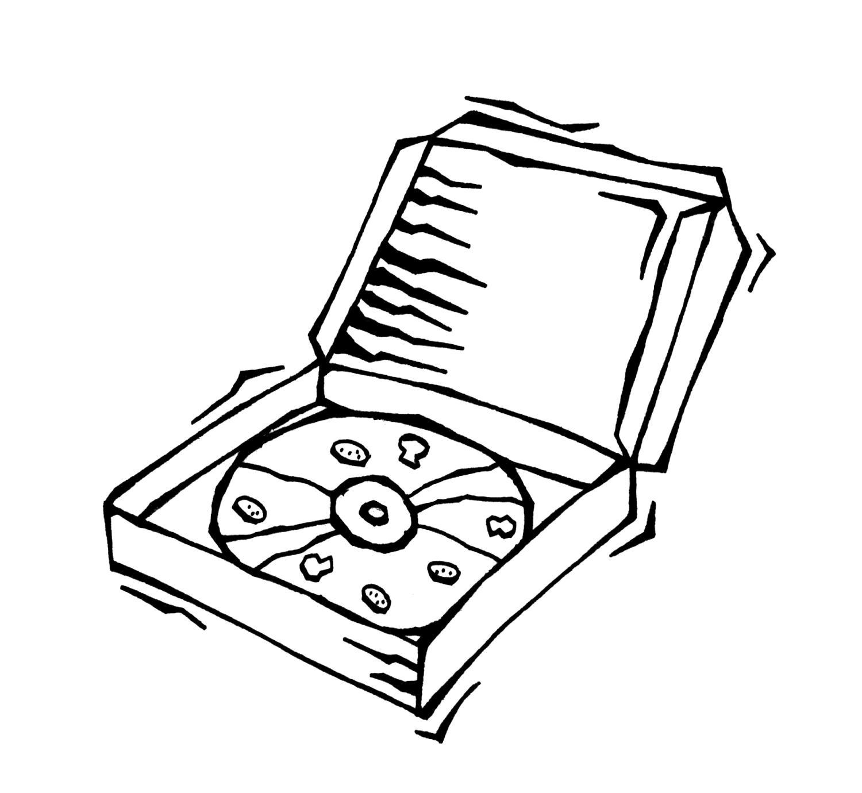 Desenhos De Pizza Para Colorir Imprimir