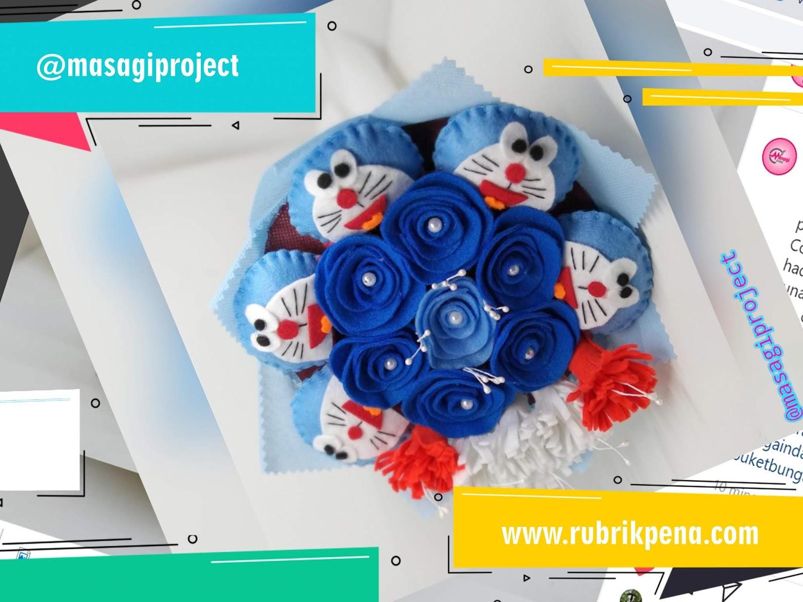 Buket Bunga Flanel Cantik Produksi Masagi Custom Rubrik Pena