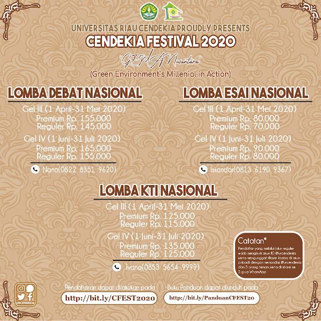 Perubahan Jadwal Cendekia Festival (CFest) 2020 Universitas Riau