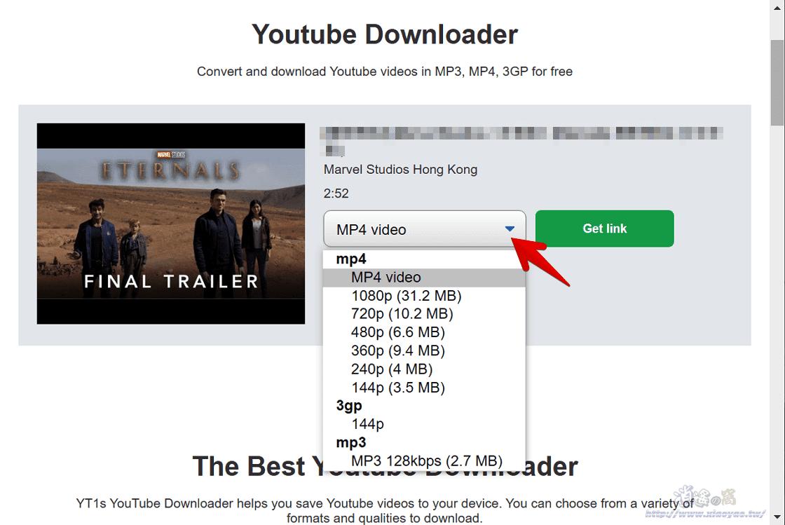 YT1s 免費線上Youtube下載器