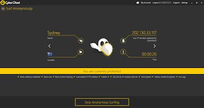 Screenshot CyberGhost VPN 6.0.9.3080 Full Version
