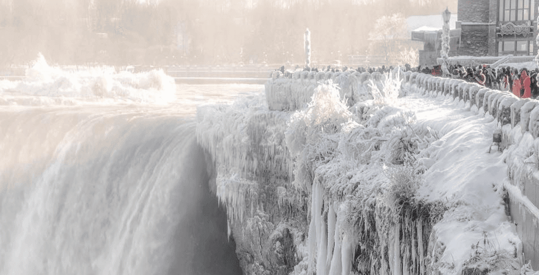 It Was So Cold In North America That Niagara Falls Were Frozen And Looked Like Something From Narnia