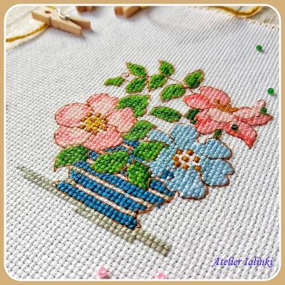 cross stitch gold crossstitch вышивка цветов