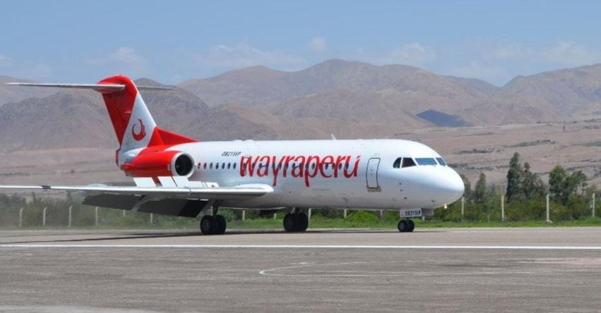 Wayra Perú realizó primer vuelo comercial de prueba entre Lima y Moquegua
