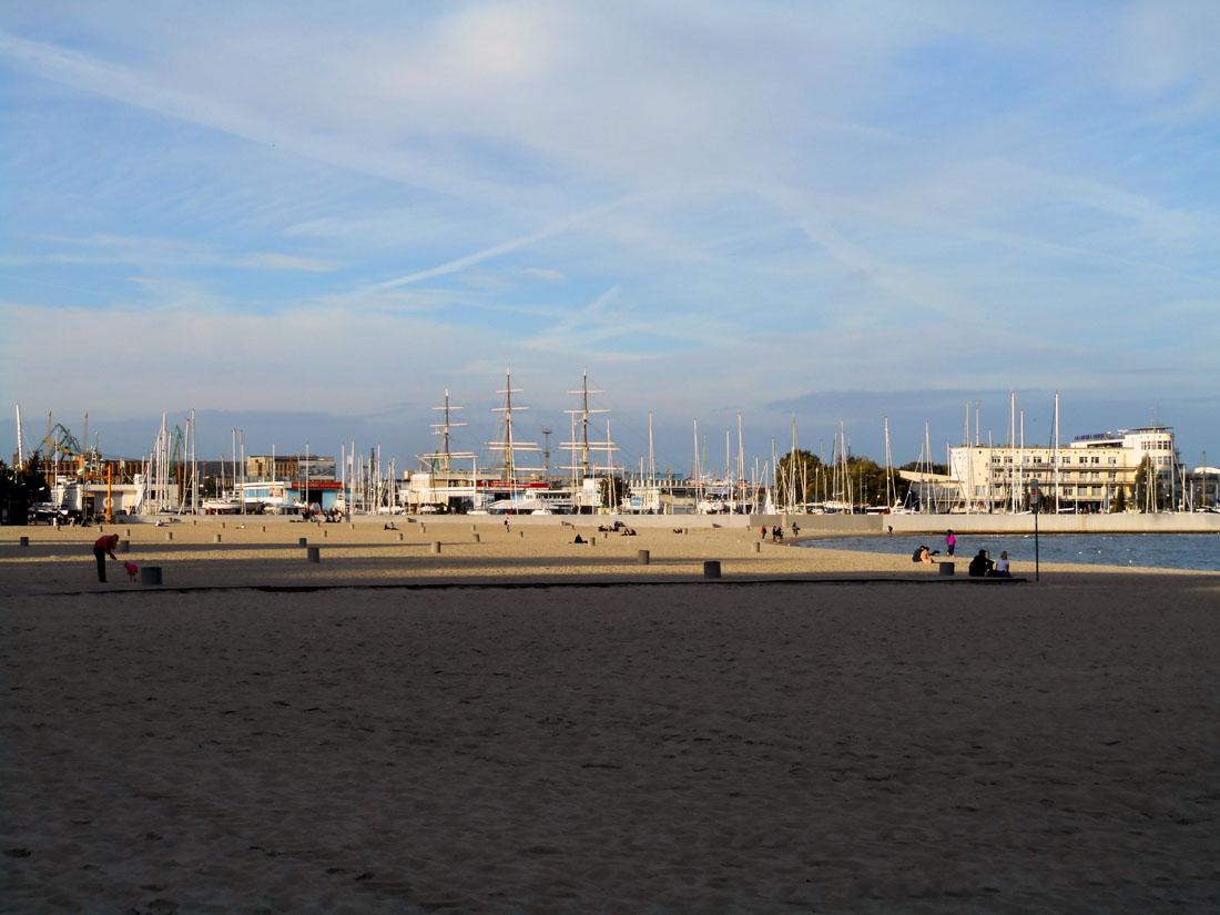 La spiaggia di Gdynia