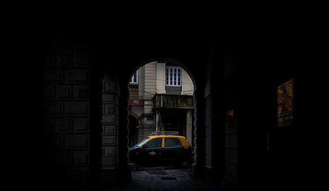 mumbai, colonial architecture, Horniman Circle, photography, taxi