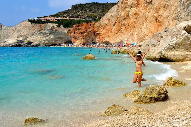playa de Porto Katsiki, isla Lefkada, Grecia