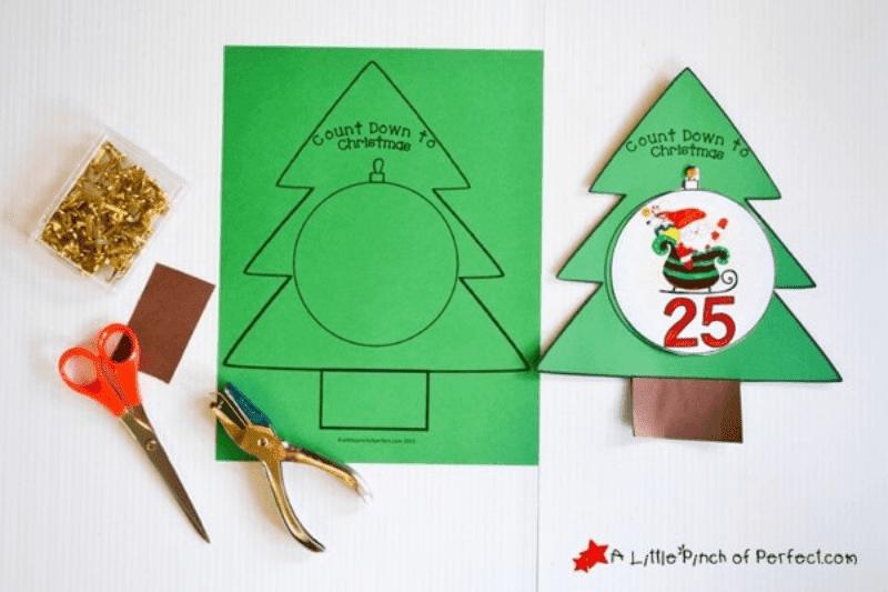 printable christmas bauble countdown