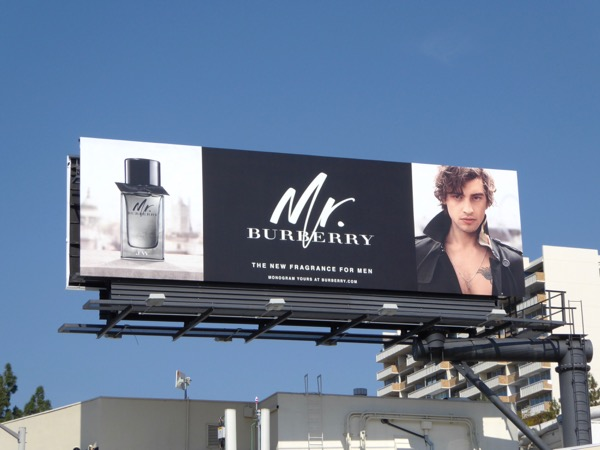 Mr Burberry fragrance Spring 2016 billboard